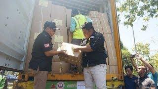 1.689 Box Surat Suara Pemilu 2019 Tiba di Banjarmasin