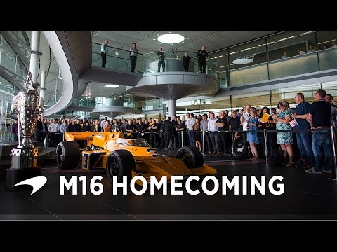 Johnny Rutherford brings home the McLaren M16 IndyCar