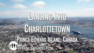 CHARLOTTETOWN Landing into Airport on P.E.I. Flying from Toronto Onboard Air Canada Rouge Airbus 319