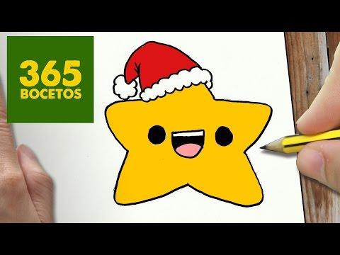 Como Dibujar Un Estrella Para Navidad Paso A Paso Dibujos Kawaii