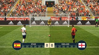 SPAIN vs ENGLAND   Penalty Shootout   PES 2019 Gameplay PC