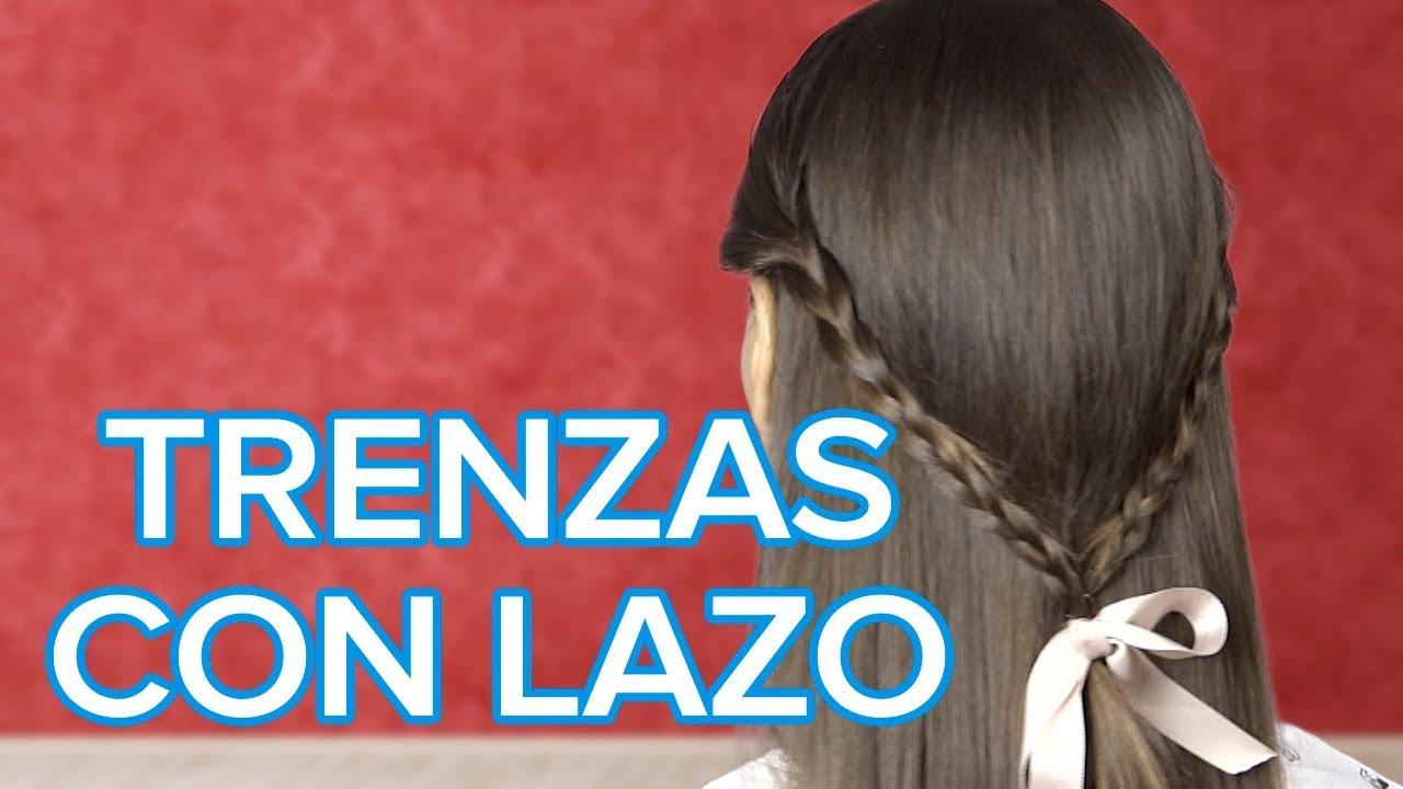 Cómo hacer unas trenzas con un lazo | Peinados sencillos para niñas