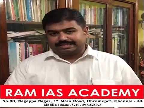 Mr. Mohideen's feedback about RAM IAS