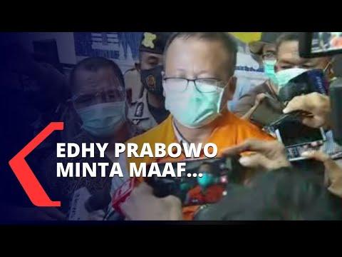 pakai rompi orange menteri edhy prabowo minta maaf kepada jokowi