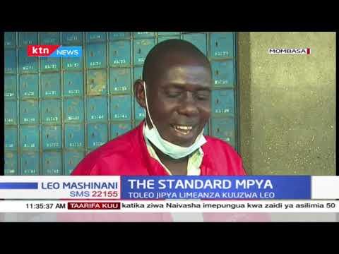 The Standard Mpya: Gazeti la The Standard lenye sura mpya limeanza kuuzwa kote nchini