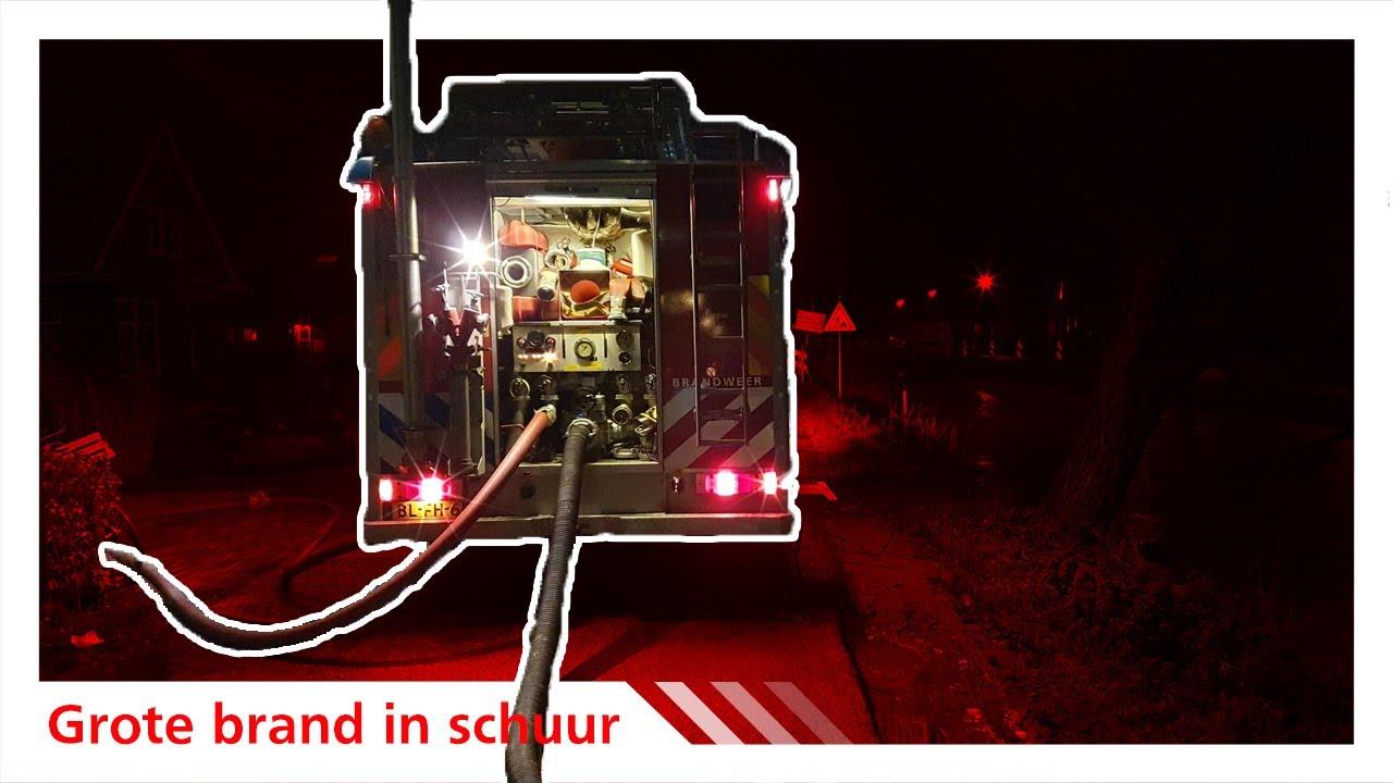 Uitruk: Schuur in brand (grote brand) Dorp Polsbroek