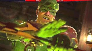 INJUSTICE 2 Green Arrow VS Harley Quinn Gameplay (PS4 / Xbox One)