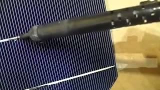 Солнечная батарея своими руками!!! Лужение и пайка контактов