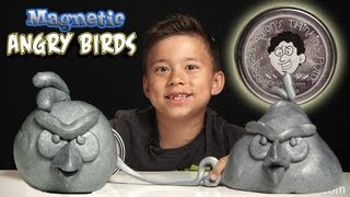 Magnetic ANGRY BIRDS! Crazy Aaron's MAGNETIC