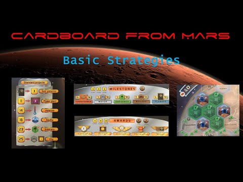New channel for Terraforming strategy and plays!  Cardboard From Mars