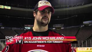 CYCLONES TV: Morning Skate Report  - Nov 15, 2013