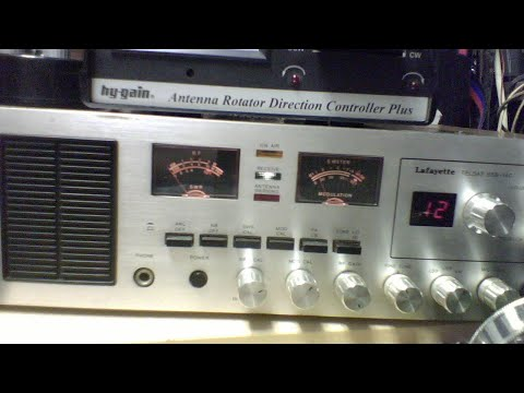 Old Radio Night 8/31/19 Lafayette Telstat SSB 140 Reverse Pre-amp(D&A Maverick (Tan)