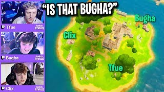 TFUE vs BUGHA vs CLIX on Middle Island Only! (Fortnite)