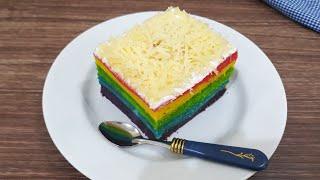 Gambar cover Rainbow Cake Kukus Lembut dan Enak | Cara Mudah Membuat Bolu Pelangi