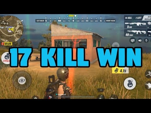 17 KILL WIN! Rules of Survival Solo Winner WITH A GRENADE KILL To Win It All!!  M14EBR IS AMAZING!