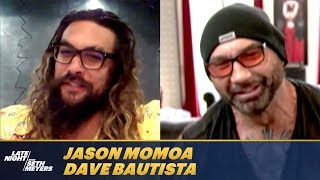 Jason Momoa and Dave Bautista Discover Both Were Lifeguards Growing Up
