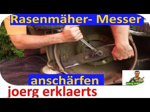Rasenmäher Messer anschärfen - ohne viel Zeit zu investieren Tutorial Nr. 123