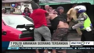 Preman Berbadan Besar Ditangkap Polisi Dijalan Raya, Diduga Terkait Kejahatan