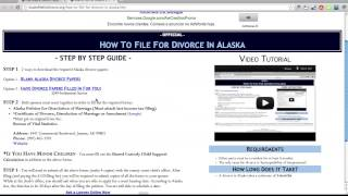 Free Alaska Divorce Papers and Forms