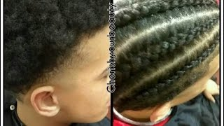 Client Makeover| Getting Small Stitch Cornrows On 2inch Length Hair