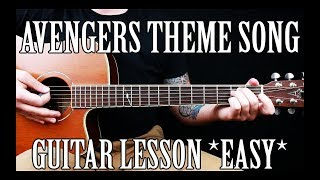 """How to Play the """"Avengers Theme"""" on Guitar *TABS*"""