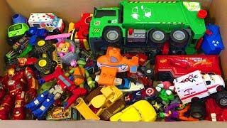 Огромная Коробка с Игрушками Сюрпризы Тачки Хот Вилс Щенячий Патруль Робокар Бэтмен