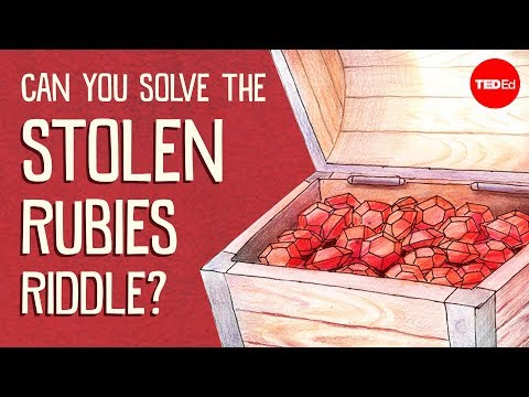 Can you solve the stolen rubies riddle? – Dennis Shasha