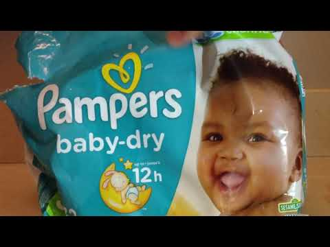 NEW Pampers 12 hour Baby Dry Size 3 32 Count Jumbo Pack Diapers Review Reveal