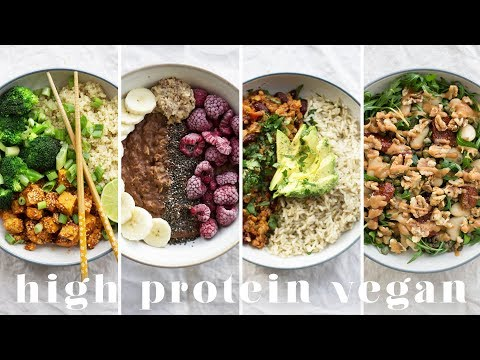 HIGH PROTEIN VEGAN MEALS   5 Recipes = 173g Protein