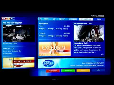 HbbTV auf dem digitalen HD+ Sat-Receiver VX 10 von Smart