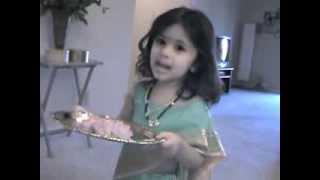 Ganpati Aarati-Sukhkarta Dukhharta- Prisha Hedau (2.10 years girl)