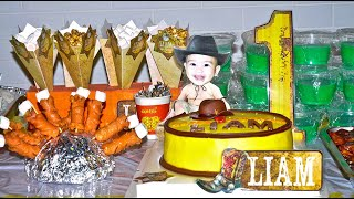 Cowboy Theme Party   Liams 1st Birthday   Country Western Rodeo Party Decoration Ideas