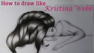 How To Draw Like Kristina Webb | Cute Girl Sleeping Drawing | Prachi Gajjar