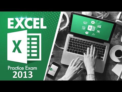 MOS Exam Excel 2013 Practice Test - YouTube
