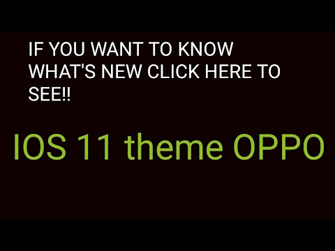 IOS 11 THEME FOR OPPO F1S & F3Plus LOLLIPOP AND MARSHMALLOW