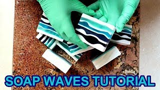 HOW TO MAKE WAVES IN MELT & POUR SOAP TUTORIAL