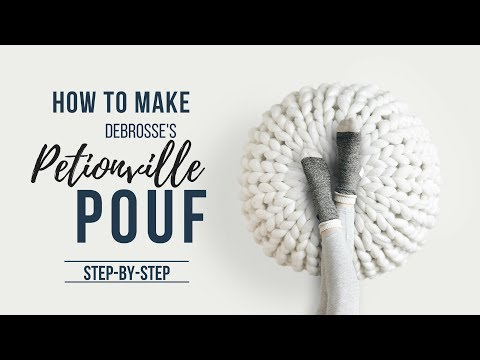 How to Make Debrosse's Petionville Pouf - Step by Step