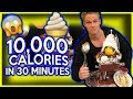 ICE CREAM SUNDAE CHALLENGE !!! (10,000+ Calories)   HERSCHEL STRONG