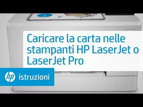 Caricare la carta nella stampante HP LaserJet