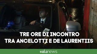Incontro notturno tra De Laurentiis e Ancelotti