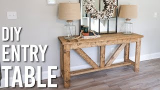 DIY - Farmhouse Style - Entry Table