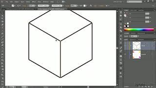 Illustrator Tutorial:  Drawing An Orthogonal Cube With The Line Tool | Lynda.com