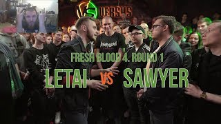 ЗАБЭ смотрит баттл LeTai/Sawyer. FRESH BLOOD 4. Round 1.