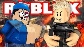 Our first time playing Roblox Arsenal!