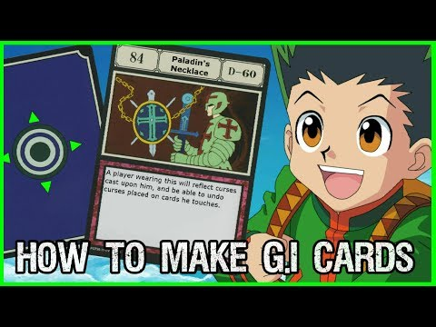 Make Your Own Greed Island Cards! Hunter X Hunter Tutorial