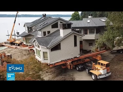 العرب اليوم - شاهد: نقل المنازل على الشاحنات في الولايات المتحدة الأميركية