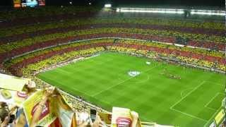 preview picture of video 'Barcelona x Real Madrid, mosaico oficial do Barcelona no Camp Nou'