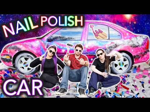 Painting a Car With NAIL POLISH ft. Threadbanger