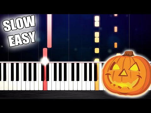 HALLOWEEN THEME - SLOW EASY Piano Tutorial by PlutaX