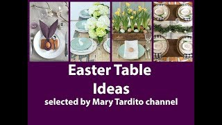 Easter Table Decorations Inspo - Easter Centerpiece Ideas - Spring Decorating Ideas